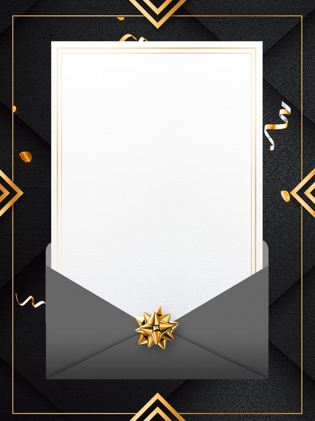 fashion black gold wind invitation background design
