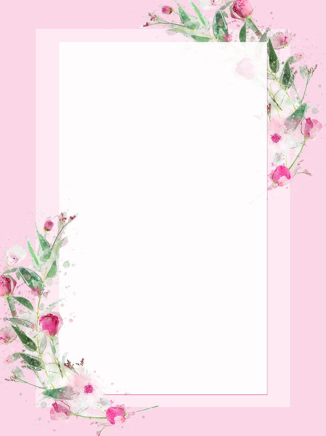 Flowers Pink Border Background, S And Plants, Plant ...