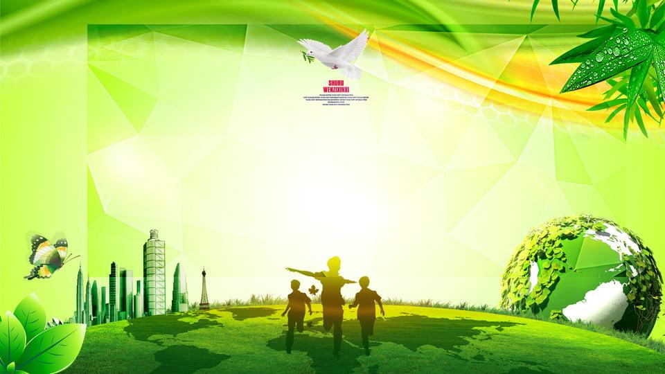 Fresh Green Earth Advertising Background, Advertising
