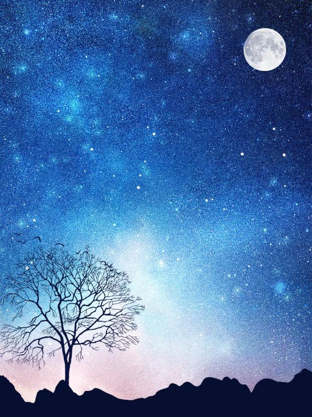 Full Aesthetic Aurora Night Sky Background, Aurora