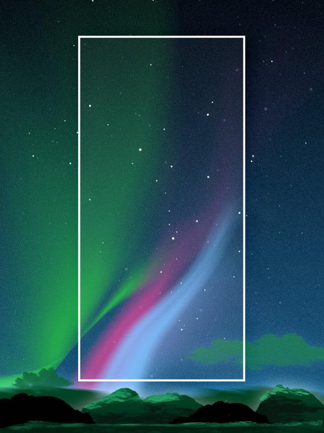 Full Aesthetic Night Aurora Background Material, Wallpaper