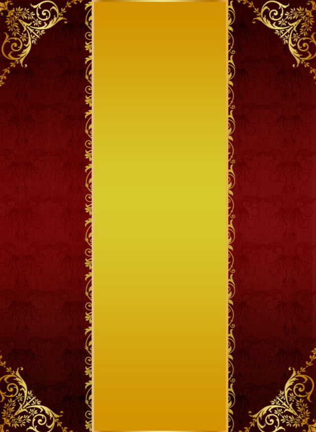 Gold Red Yellow European Texture Background, Gold Red Yellow