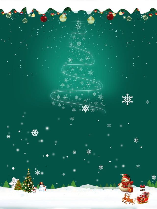 Beautiful Christmas Background.Green Minimalist Beautiful Christmas Background Material