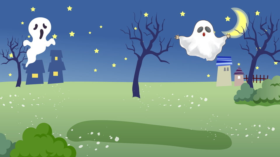 Halloween Night Landscape Background, Halloween Background