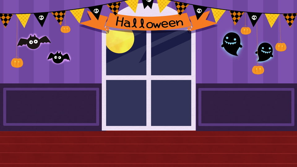 Halloween Party Stage Background Design Fairy Tale Cartoon Colorful Background Background Image For Free Download