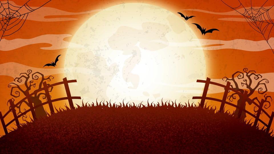 Horror Halloween Silhouette Illustration