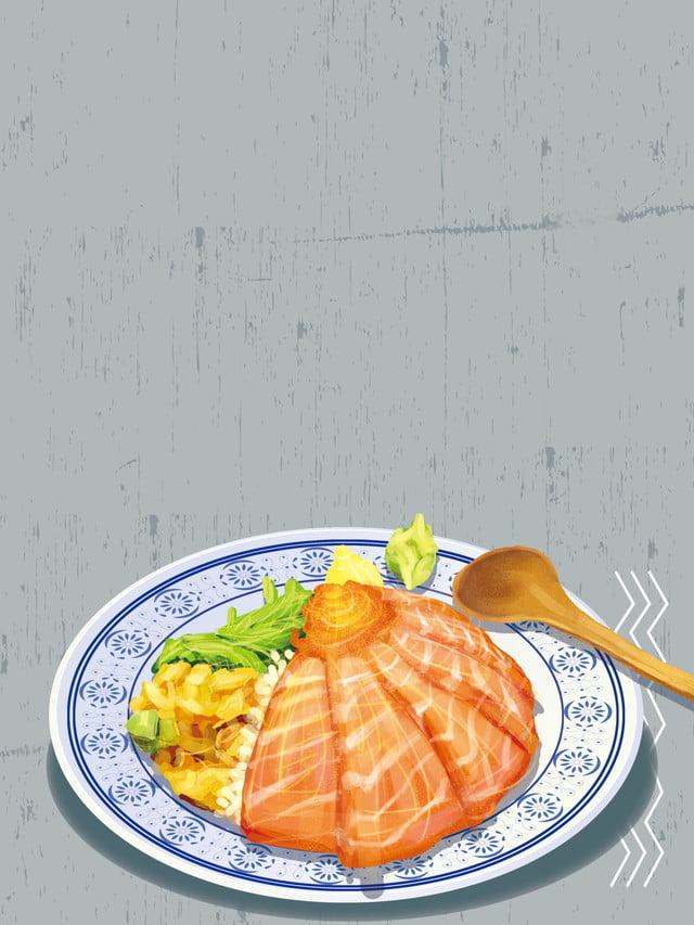 gaya salmon maya jepun bahan latar belakang makanan