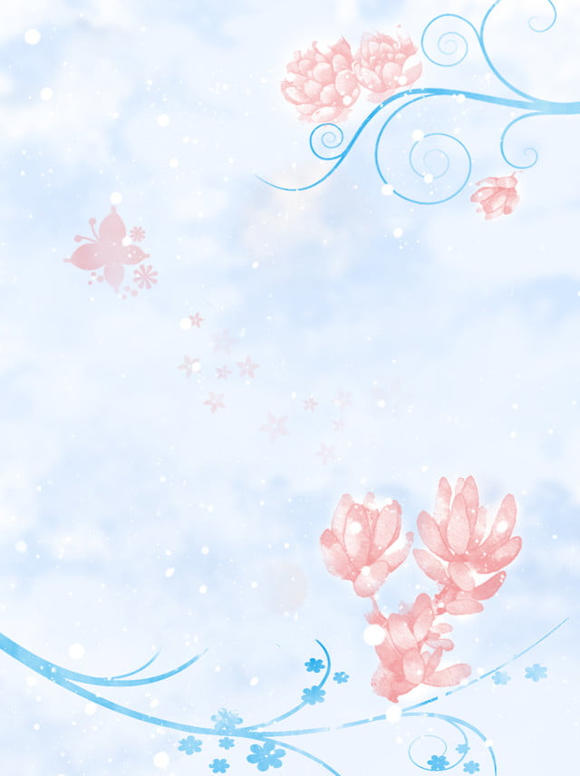 Download 103+ Background Biru Muda Bunga Paling Keren