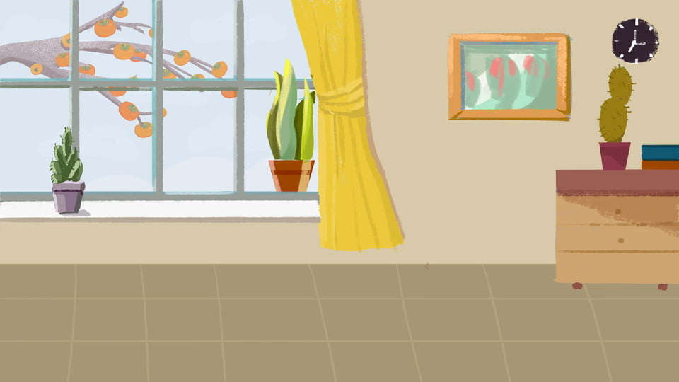 Living Room Home Warm And Fresh Illustration Background Design Warm Fresh Home Background Background Image For Free Download