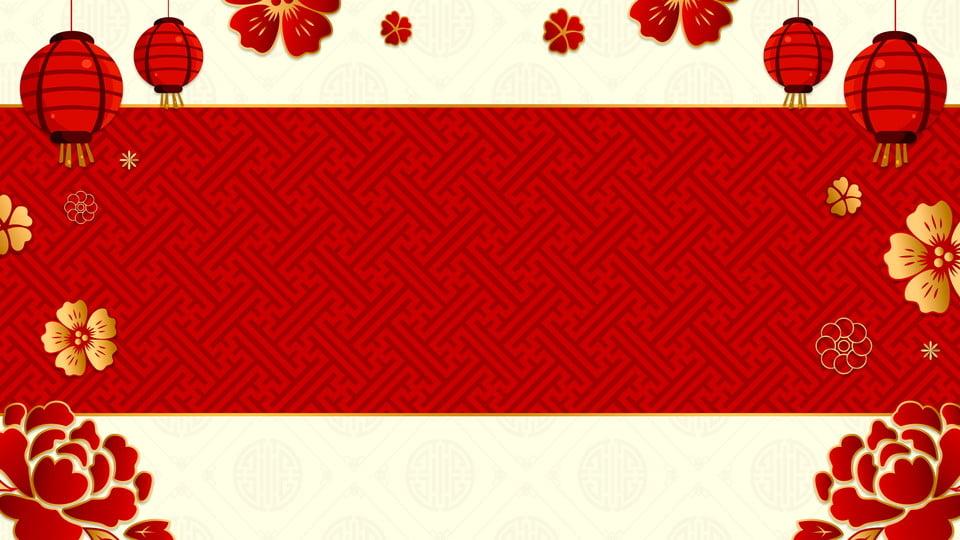 Materiale Di Sfondo Rosso Maiale Anno Banner Minimalista Semplice