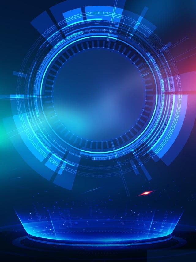 Modern business technology blue background design for Design online