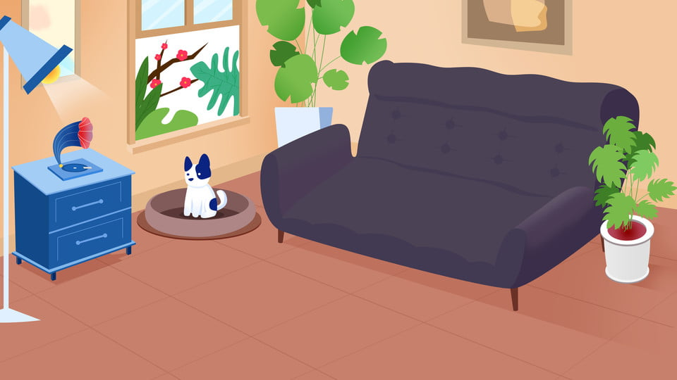 Latar Belakang Hiasan Ruang Tamu Moden