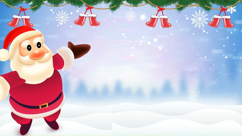 painted christmas theme background santa claus christmas socks snowflake background image for free download https pngtree com freebackground painted christmas theme background 965436 html