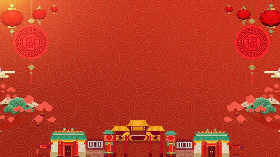 Painted Cute Chinese New Year Background Design Painted Colorful Background Red Background Image For Free Download