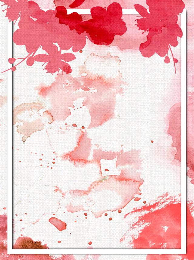Peach couleur chaude couleur fille coeur aquarelle romantique ...