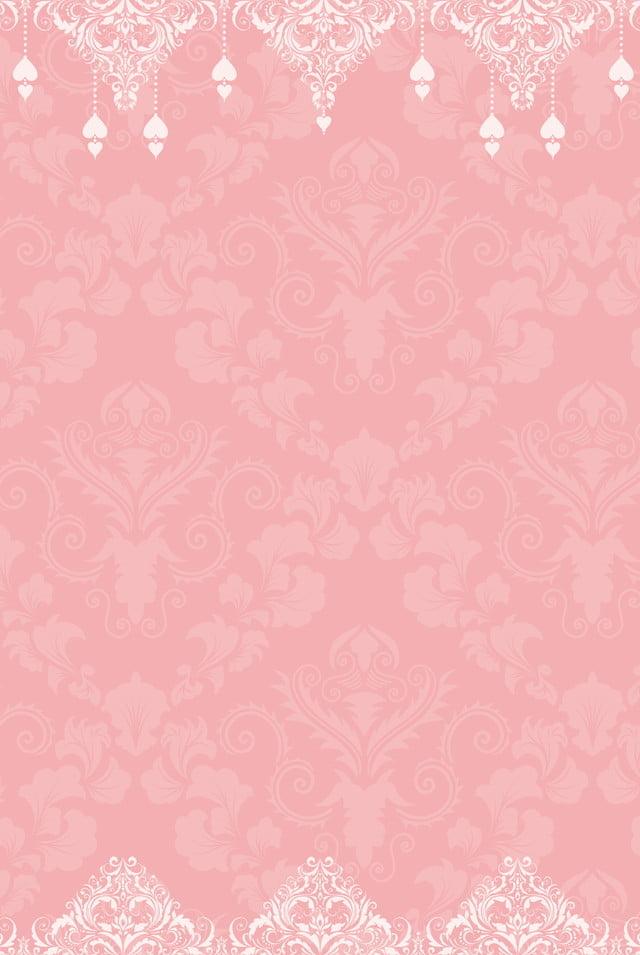 Pink European Invitation Background Design Pink European