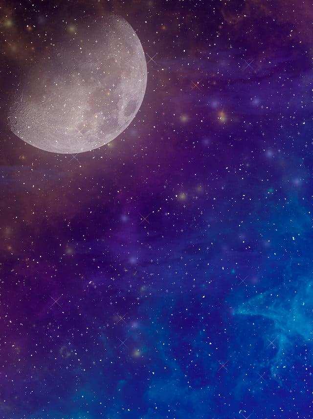 pure beautiful starry nebula moon background  starry sky