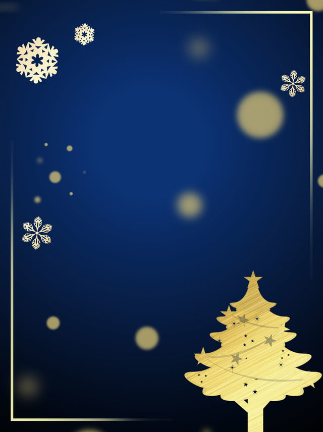 Pure Christmas Fantasy Golden Border Background Snowman