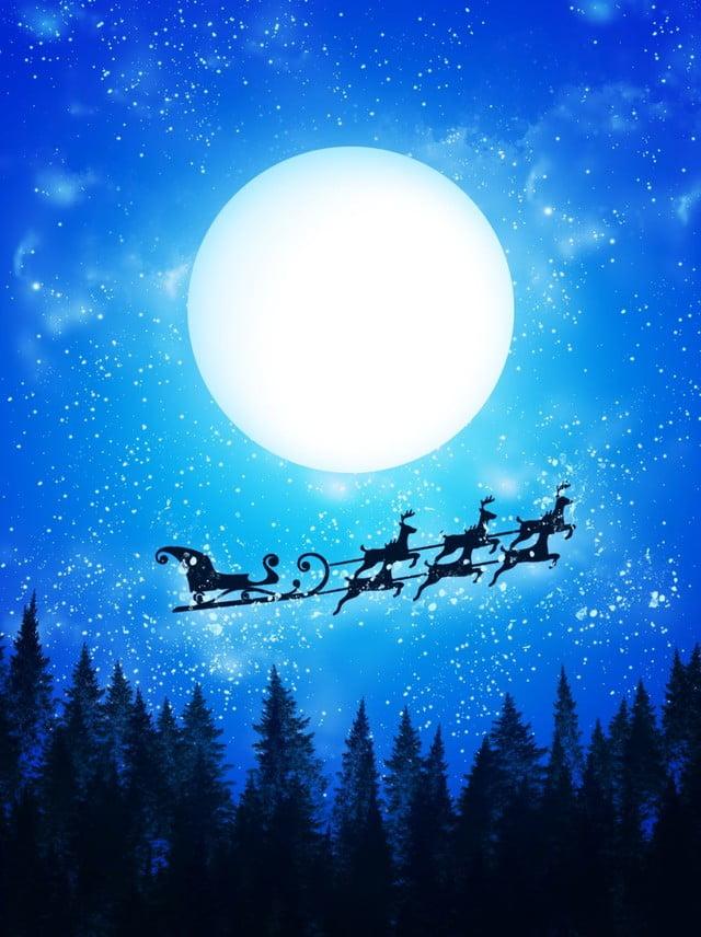 Mao Pura Floresta Desenhada Noite Natal Dos Desenhos Animados