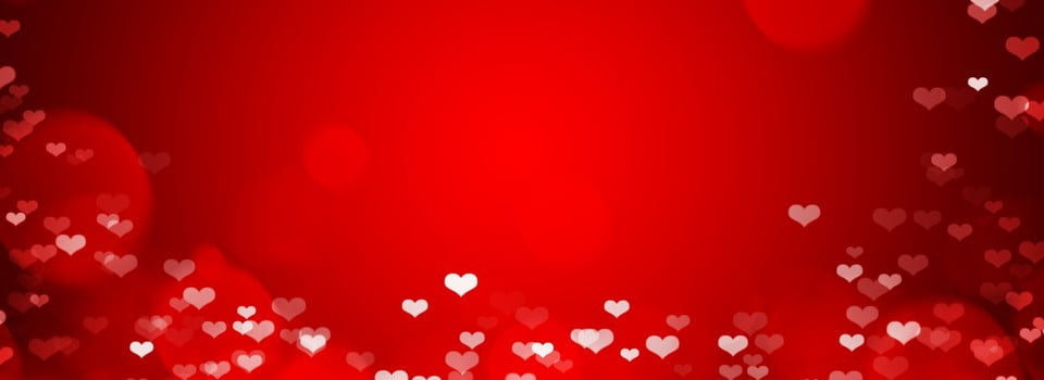 Pure Red Love Valentines Day Background Red Banner