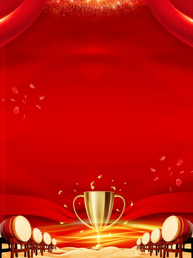 red awards party background  trophy  drum  red background
