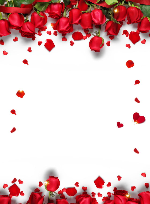 Romantic Chinese Valentines Day Red Rose Petals Background ...