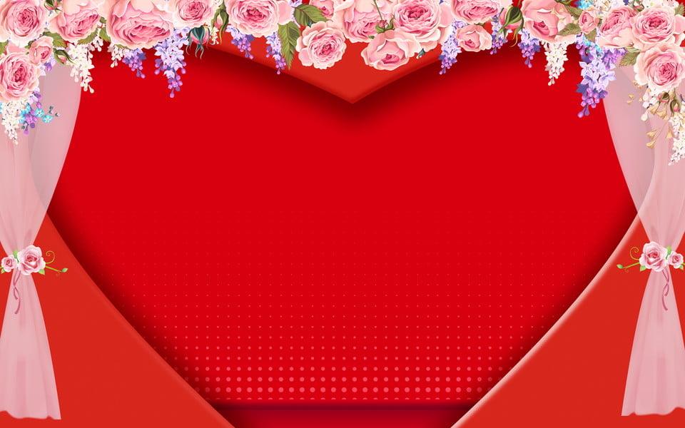رومانسية عرس الحب مرحلة تصميم الخلفية مبتهج رومانسي خلفية