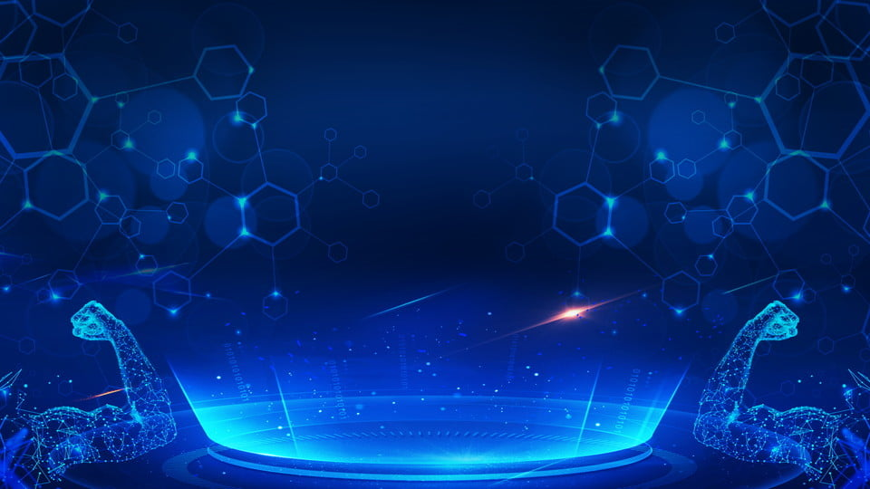 Science And Technology Intelligence Era Blue Background ...