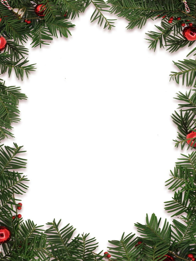 Christmas Holiday Background.Simple Christmas Pine Branch Ring Background Material