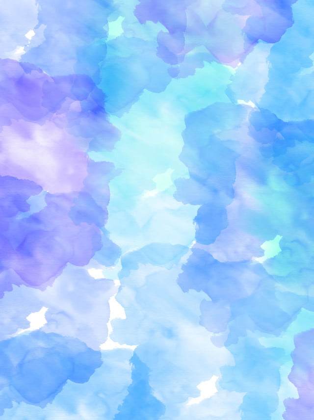 Simple Cool Color Watercolor Smudge Background Simple Blue Blue Purple Background Image For Free Download