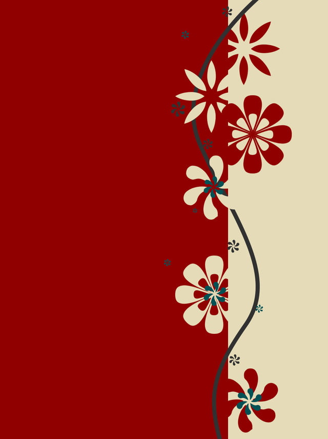 Simple Country Style Paper Cut Pattern Background Cutting Red Retro Chinese