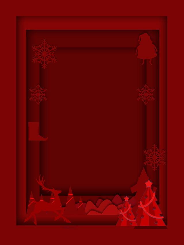 Materiale Di Sfondo Rosso Di Natale Del Vento Di Carta Semplice