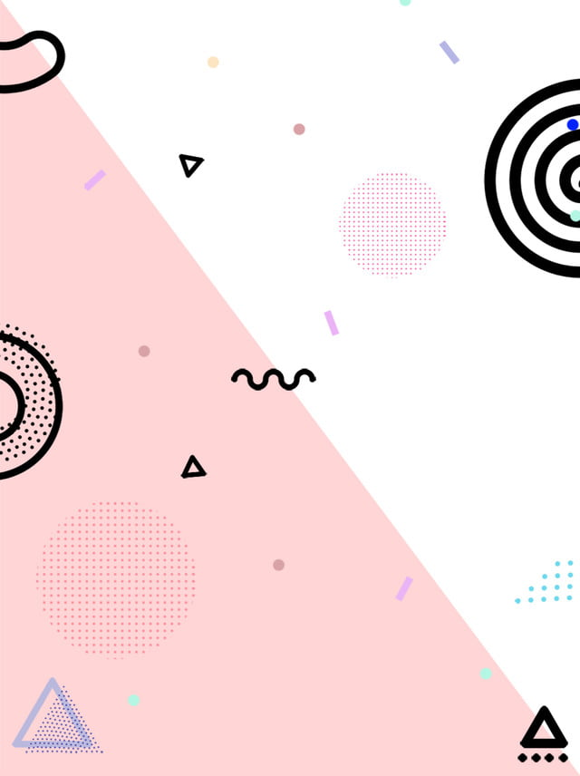 Simple Pop Style Cute Geometric Background Geometric Pop