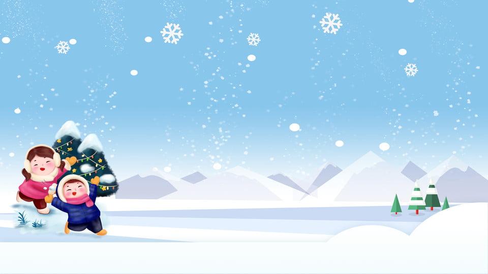 Snowing Christmas Scene.Snow Scene Christmas Advertising Background Material