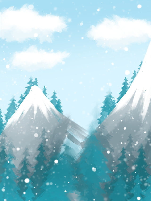 Snowy Landscape Trees Background Design Traditional Solar Terms