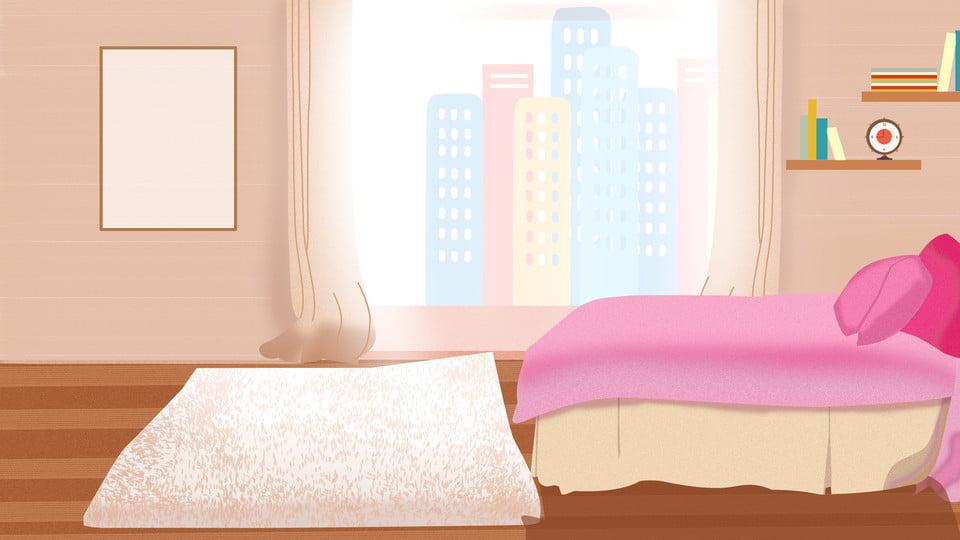 Warm Painted Bedroom Background Design Background Bedroom Background