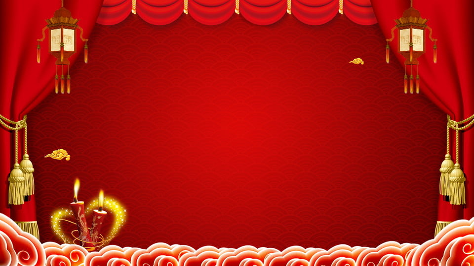 Wedding Celebration Festive Chinese Style Stage Background ...