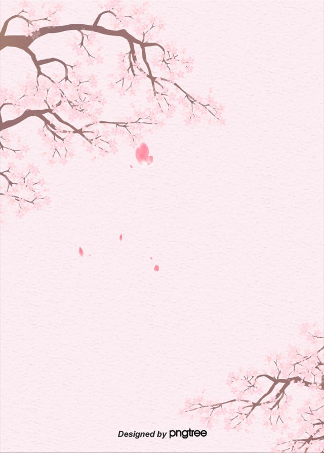 pink and plain paper cherry blossom japanese background