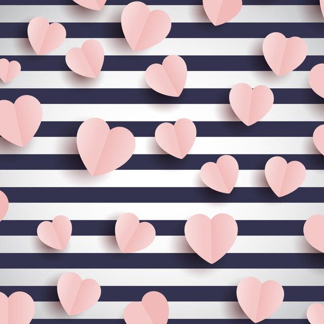 قلوب وردية على خلفية مخططة المتجه خلفية عيد الحب صورة الخلفية للتحميل مجانا