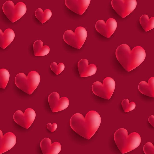 Valentino Giorno Di Sfondo Con 3d Stile Cuori 3d Abstract Sfondo
