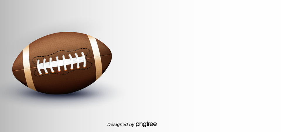 Simple And Realistic American Football Background Brown