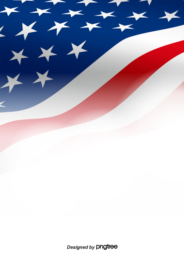 American Flag Background With Gradual White Flying, Creative