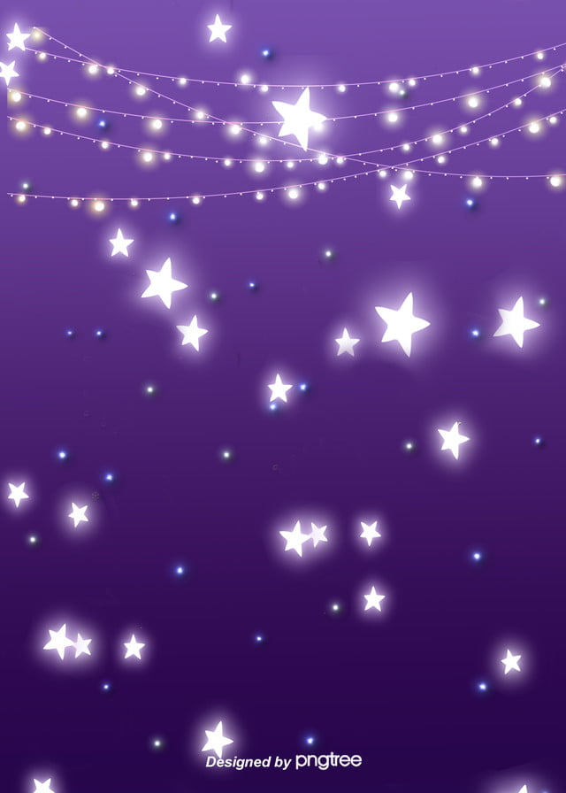 Purple Gradient Star Hanging Light At Night Lovely Background