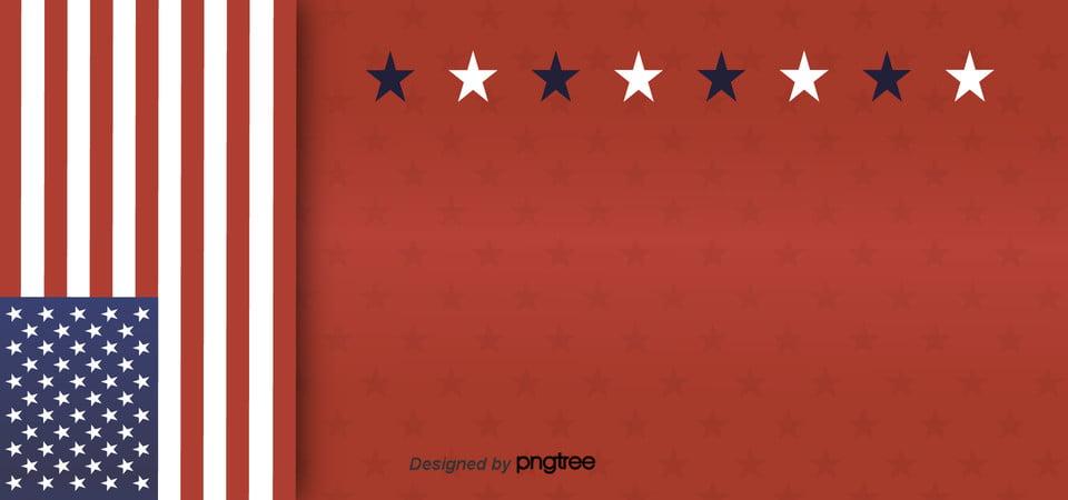 Le Stelle Sullo Sfondo Rosso Della Bandiera Degli Stati Uniti La