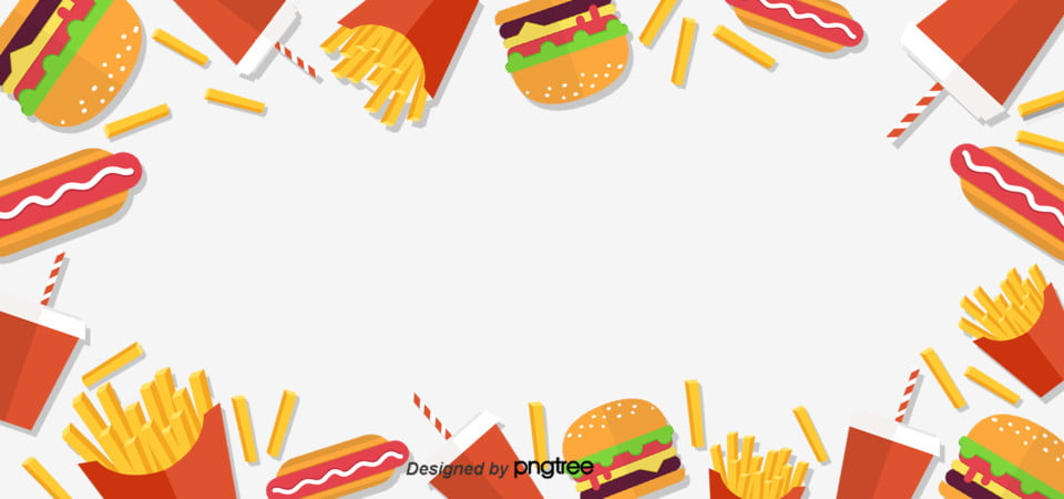 Cepat Makanan Hamburger Hot Dog Kentang Goreng Dan Coke Unsur
