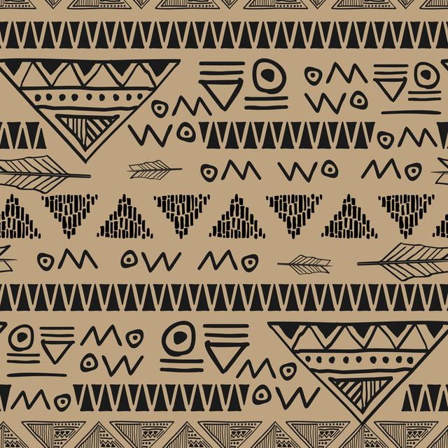 Batik Symbol Ancient Egyptian Seamless Pattern Vector