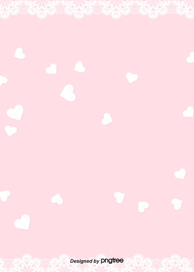 Pink Lace Love Girl Background Girl Soft Pale Heart Love