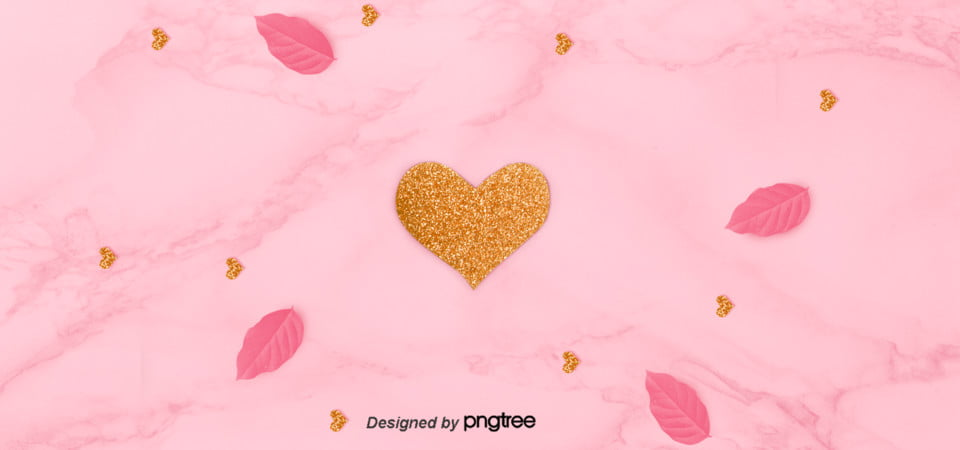 Love Pink Leaves Marble Patterns Pink Girl Lovely Fresh Background