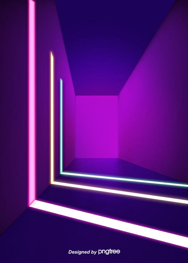 Schema Elettrico Per Tubo Al Neon : Le luci al neon blu e viola dello spazio tridimensionale uno schema