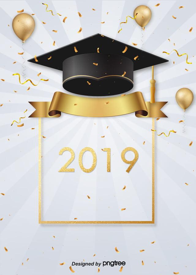 Graduation Hat Joy Background, 2019, Sequins, Geometric ...